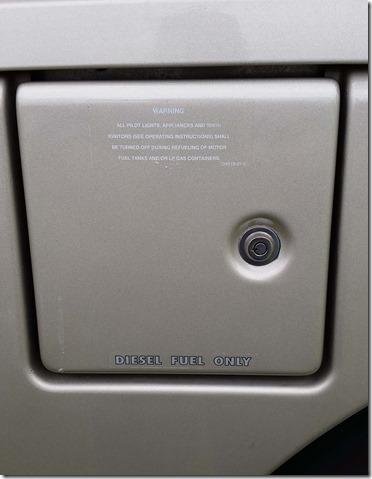 Fuel door lock