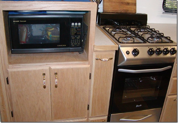 kitchen cabinets microwave