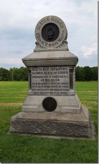 80th New York monument