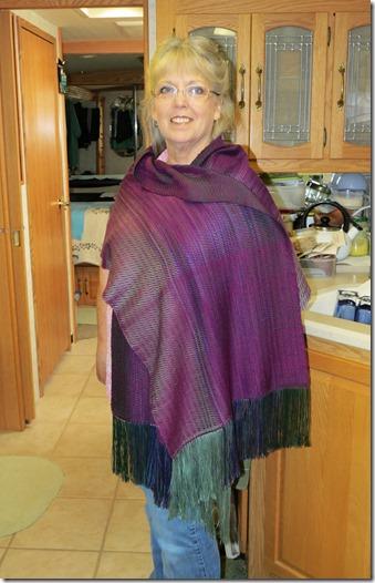 Terry tencel shawl