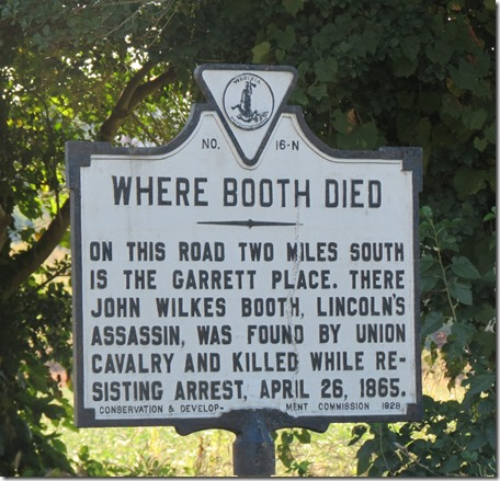 Booth died sign