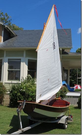 Home built gaff rigged
