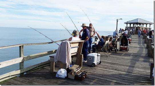 Fishermen on pier