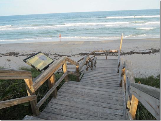 Beach stairs