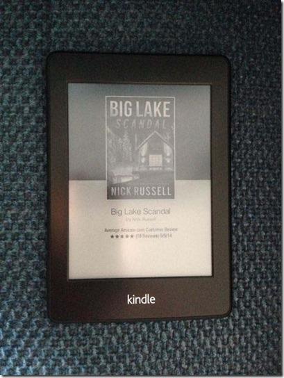 Scandal ad on Kindle
