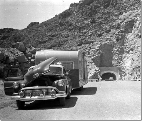 Old Buick and trailer