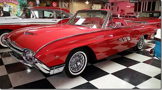Red Tbird convertible