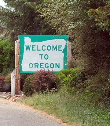 Oregon sign small