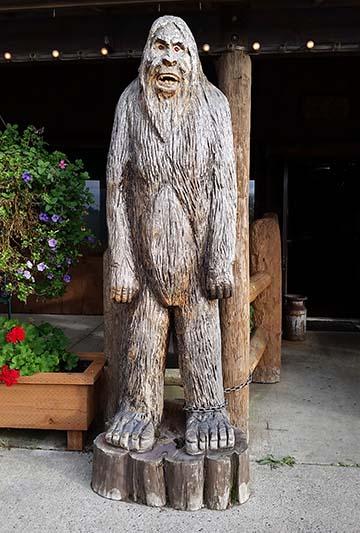 Bigfoot outside small