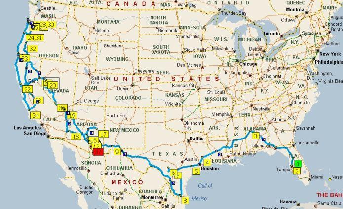 2015 Travel Map
