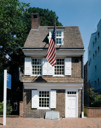 Betsy Ross House in Philadelphia, Pennsylvania.