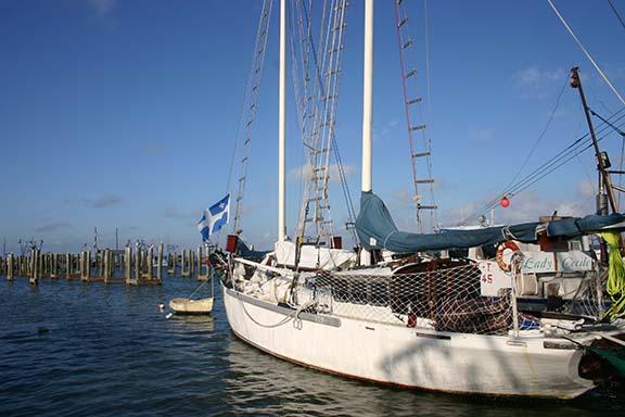 Boat docked Rockport