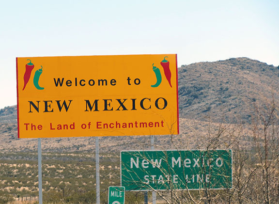 New Mexico welcome sign small
