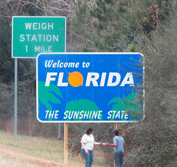 Florida Welcome sign small