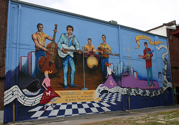 Rockabilly mural