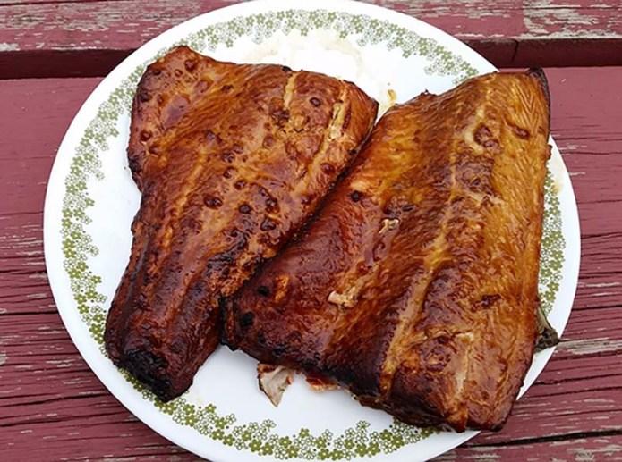 Salmon on Plate