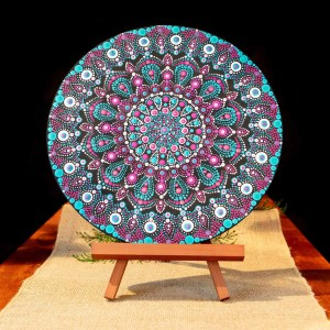 Exotic Beauty Handpainted Mandala. Exotic Beauty