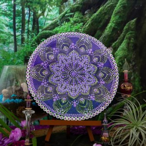 Sweet Violet Whispers Handpainted Mandala. Sweet Violet Whispers