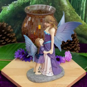 Amethyst Guardian Mother and Daughter Fairy