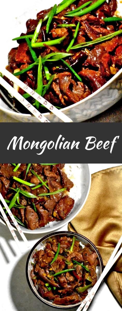 pinterest image of mongolian beef