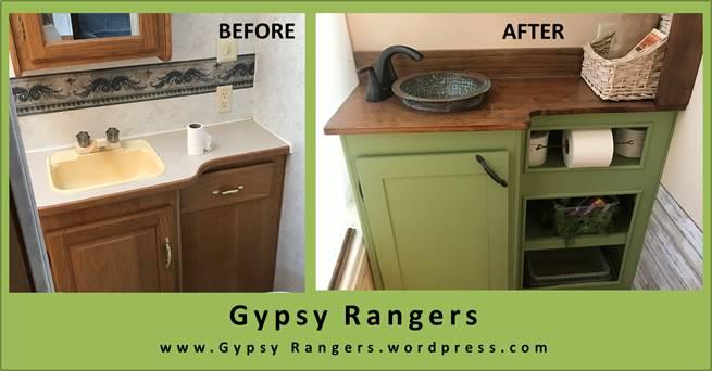 rv bathroom updates countertop sink