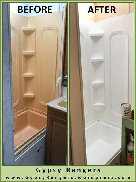 RV Bathroom Updates ShowerTub Refinishing  Gypsy Rangers