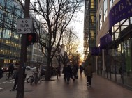 Cambridge street, photo was taken after work. 2016 spring