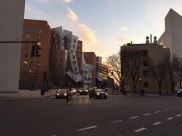 Cambridge street, photo was taken after work. This weird looking building is the MIT The Ray and Maria Stata Center. 2016 spring
