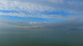 This is the Great Salt Lake. Some locals are shooting ducks for the Christmas dinner~