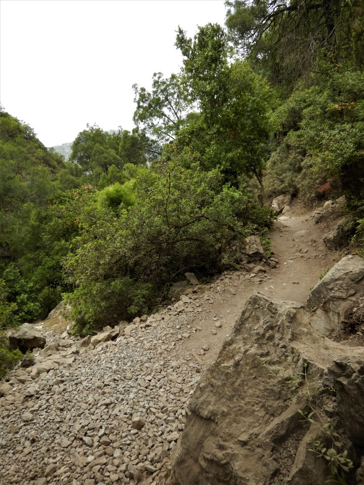 The trail to Cascade D'Akchour