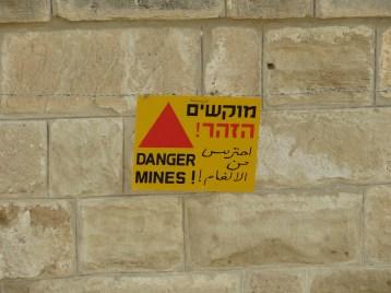 Land Mine Warning sign