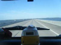 Driving Over the IntraCoastal Waterway to St George Island, FL