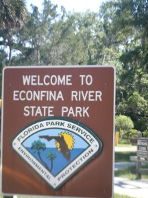 Welcome to Econfina River State Park! No Overnight Camping here Folks!