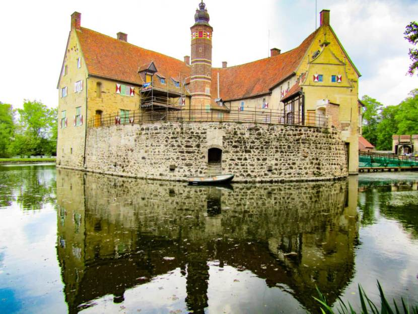 Burg Vischering, or Vischering Castle, in Ludinghausen, Germany.