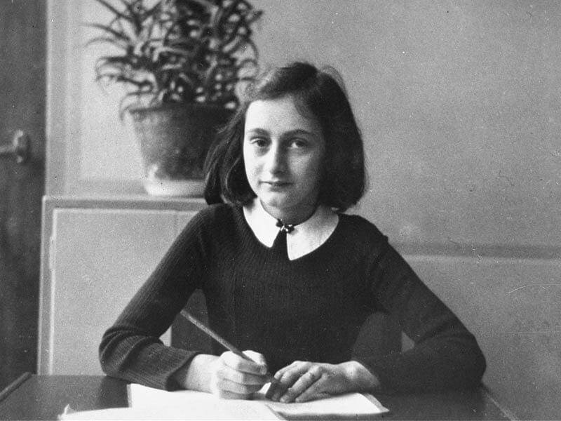 Visiting Anne Frank House.