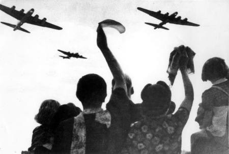 Dutch Citizens Wave as Allied Forces Fly Overhead