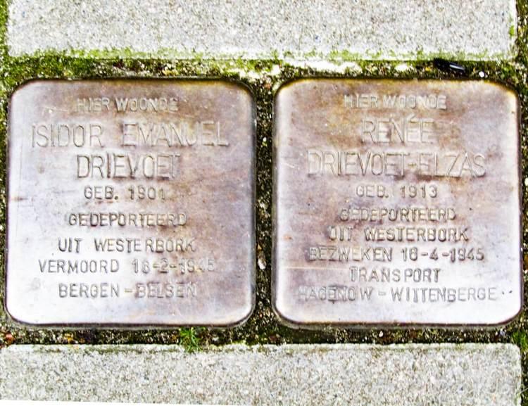Stolperstein memorial, Amsterdam.