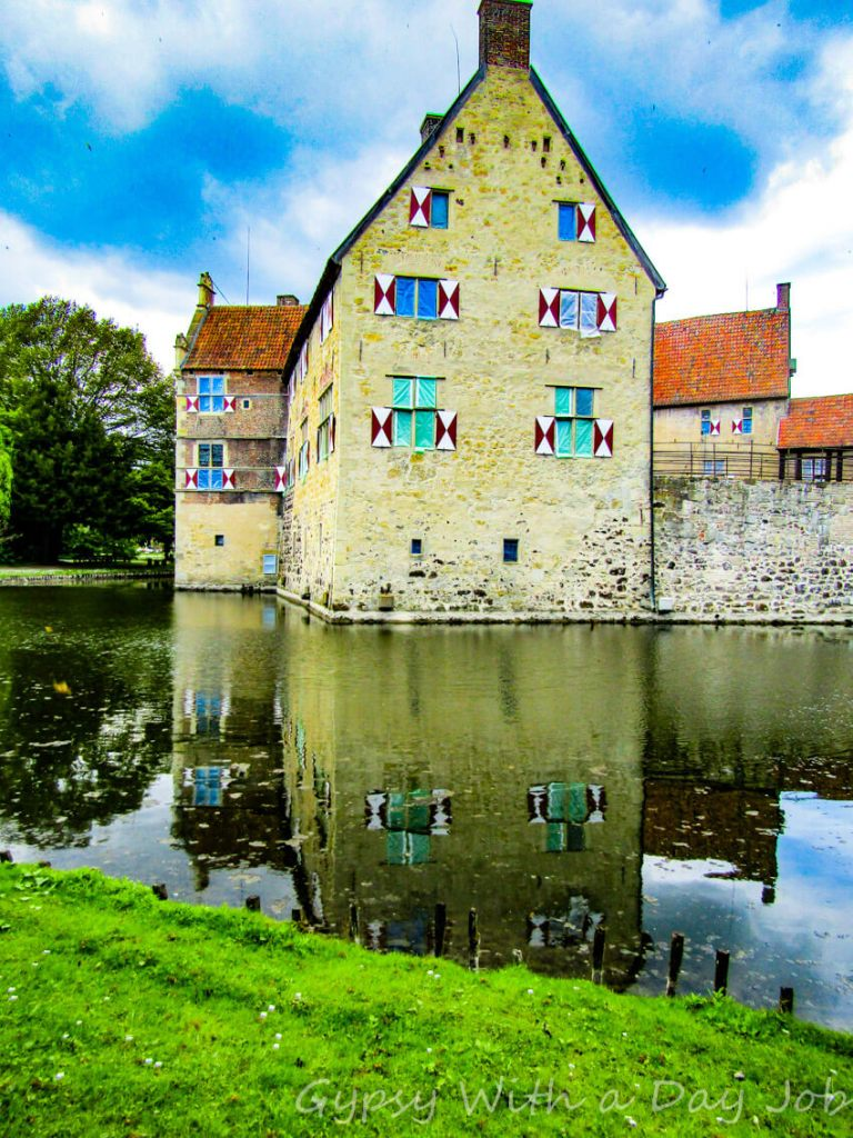Vischering Wasserschloss, or Burg Vischering, a perfect medieval moated castle, in Ludinghausen, Germany.