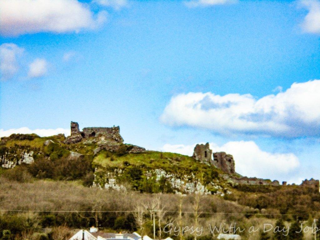 Exploring Irish countryside scenes, castle ruins.