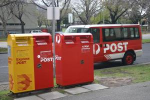 Delivering Love Letters Around the World, Australian Post boxes.