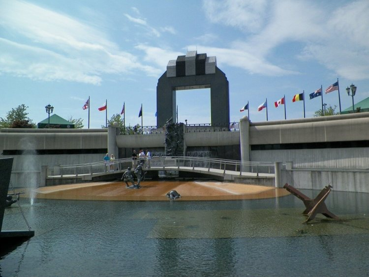 Normandy Beaches Sites of Remembrance Memorial.