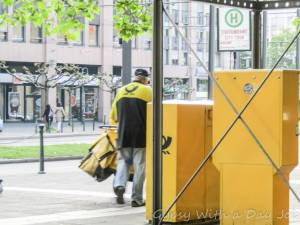 Delivering love letters, workers around the world, Deutsch Post.