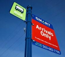 Wilsonville SMART Transit identity: Signage (Creative Director: Matt Giraud)