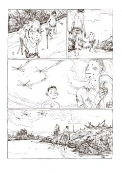 Illustration fra Børnenes jord af Gipi