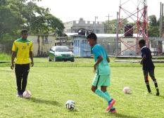 ATC_Participant at play under guidance from Eon Alleyne (Senior National Player)