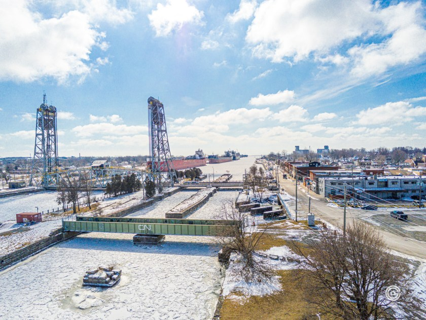 Looking South from above Bridge 21 at Port Colborne.