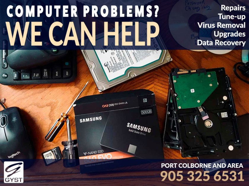 Computer Repairs in Port Colborne. Tune Ups, virus removal, upgrades, data recovery and more