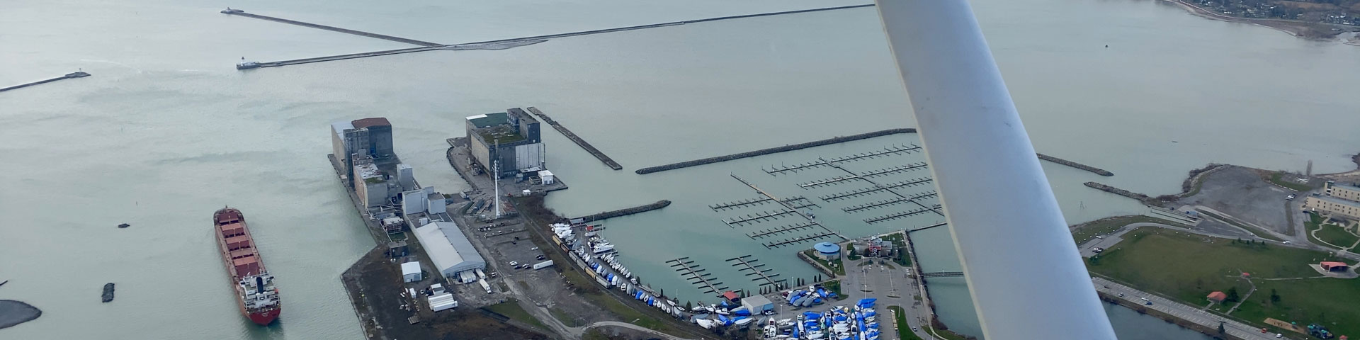 Port Colborne marina and Welland canal entrance