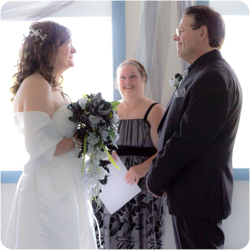 With officiant