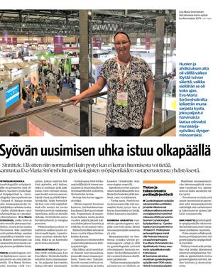 Lehtiartikkeli Pietarsaaren Sanomat 8-5-202